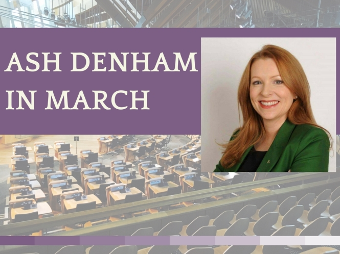 ash Denham in march